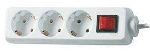 Image of   512351555 overspændingsbeskytter 3 AC stikkontakt(er) 250 V 1,4 m Hvid