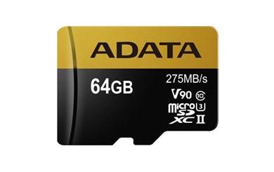 Billede af 64GB MicroSD UHS-II U3 CLASS10 w/SD adapter