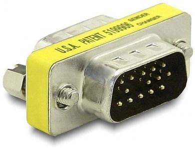 Image of   65010 kabelinterface samt han- og hun-adaptor VGA Sølv