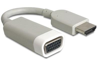 Image of   65469 kabelinterface samt han- og hun-adaptor HDMI-A VGA Hvid