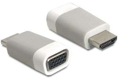 Image of   65472 kabelinterface samt han- og hun-adaptor HDMI-A VGA Hvid