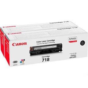 Image of   718BK black toner cartridge 2-pak