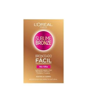 Image of   Self-bronzing håndklæder Sublime Bronze L'Oreal Make Up (2 uds)