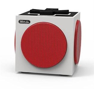 Image of Retro Cube 3 W Sort, Rød, Hvid