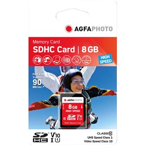 Image of 8GB SDHC hukommelseskort Klasse 10 MLC