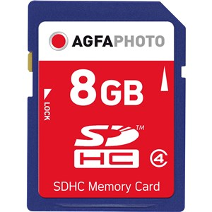 Image of 8GB SDHC Memory card hukommelseskort