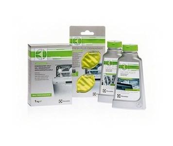 Image of   9029792208 opvaskemiddel Opvaskemaskine rengøringsmiddel + rensehjælp + salt Tablet (substance), Liquid & Solid