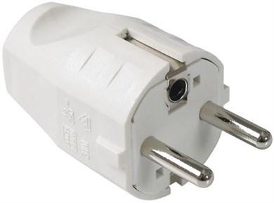 Image of 910.200 strømstik Type F Hvid