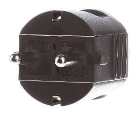 Image of 910.470 strømstik Type F Brun