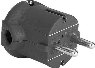 Image of 911.172 strømstik Sort