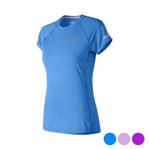 Kortærmet Sport T-shirt New Balance NB Ice 2.0 Dame Blå L