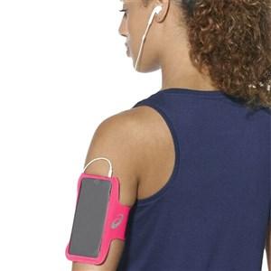 Sportsarmbånd med output til hovedtelefoner Asics MP3 Arm Tube Pink
