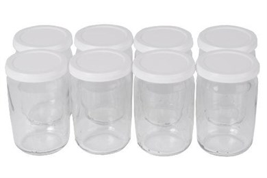 Image of   989641 glas Rund Transparent, Hvid