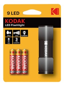 Image of   9LED Flashlight black incl. 3xAAA
