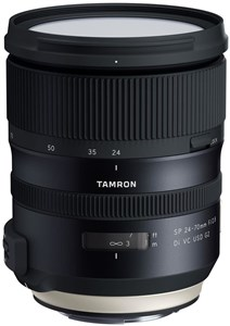 AF SP 24-70mm f / 2.8 Di VC USD G2 SLR Standardlinse Sort