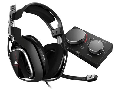 Image of A40 TR + MixAmp Pro TR Headset Sort, Rød, Sølv