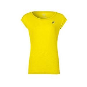 Kortærmet Sport T-shirt Asics Layering Top Dame Gul S