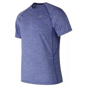 Kortærmet T-shirt til Mænd New Balance MT81095 TRY Blå S
