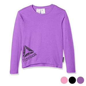 Langærmet T-shirt til Børn Reebok G ES LS Tee Pink S