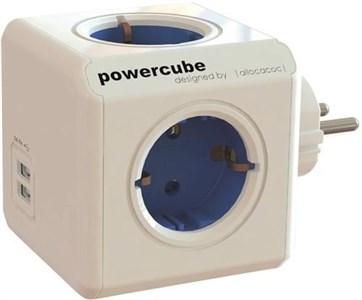 Image of acoc PowerCube Original USB, strømskinne med 4xCEE 7/4-udtag og