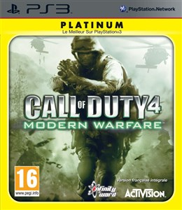 Image of Call of Duty 4: Modern Warfare Platinum, PS3 videospil PlayStation 3 Engelsk