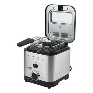 Billede af AD 4911 fryer Deep fryer 1.5 L Single Black,Satin steel Stand-alone 900 W