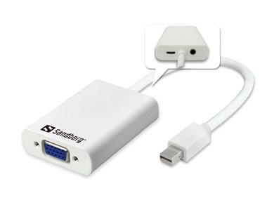 Adapter MiniDP>VGA+Audio