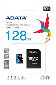 Billede af 128GB MicroSDXC UHS-I Class 10 A1 w/SD Adapter