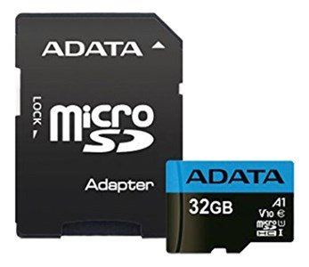 ADATA 32GB MicroSD UHS-I Class 10 A1 w/SD Adapter