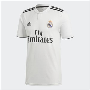 Image of   Kortærmet fodboldtrøje til mænd Adidas Real Madrid Hvid 18/19 (1ª) L