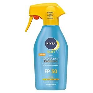 Solcreme spray Protege & Broncea Nivea SPF 50 (300 ml)
