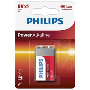 Image of   Alkaline Batteri Philips 6LR61 9V