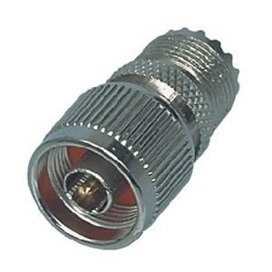 Image of   Antenneadapter N-Han - PL259 Hun Sølv