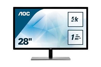 """Billede af 79 Series U2879VF computerskærm 71,1 cm (28"""") 3840 x 2160 pixel 4K Ultra HD LCD Sort, Sølv"""