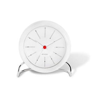 Image of   AJ Bankers bordur hvid/hvid, Ø 11 cm, alarm