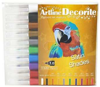 Image of Artline Decorite bullet metallic 10-sæt