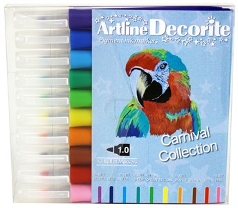 Image of Artline Decorite bullet pastel 10-sæt