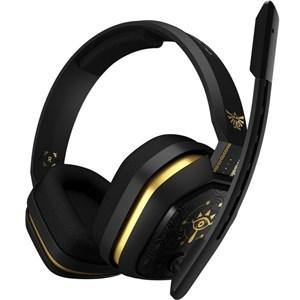 Image of A10 Headset Sort, Guld