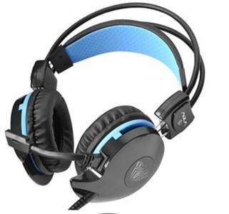 Image of Succubus Headset Sort, Blå