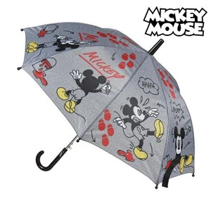Automatisk paraply Mickey Mouse Disney Grå (ø 45 cm)