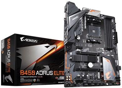 Image of   B450 AORUS ELITE bundkort Stik AM4 ATX AMD B450