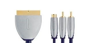 Image of   Be Pre Scart - A+S-Video Cable Scart Male-S-Video/3.5mm 10.0m