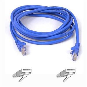 RJ45 CAT-6 Snagless STP Patch Cable 5m blue netværkskabel Blå