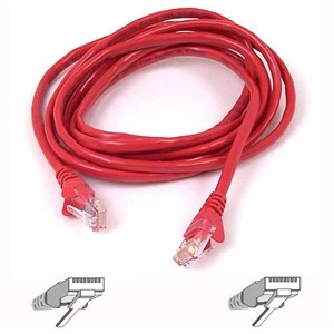 RJ45 CAT-6 Snagless STP Patch Cable 5m red netværkskabel Rød