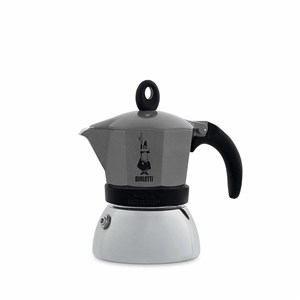 Bialetti Moka Induction Moka gryde Aluminium, Anthracit, Sort