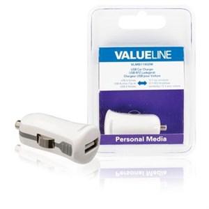Image of   Biloplader 1-Udgang 2.1 A USB Hvid
