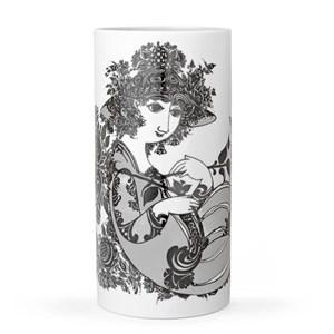 Image of   Olympia vase Cylinderformet vase Porcelæn Grå, Hvid
