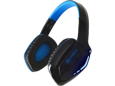 Image of   Blue Storm Wireless Headset Over-Ear, Black/Blue
