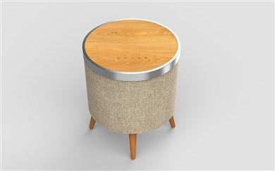 Image of   Bluetooth party højtaler og bord i Lys bøg