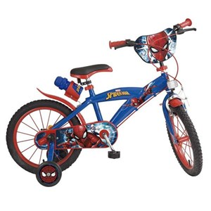 """Billede af Børnecykel Spiderman 16"""" Blå"""